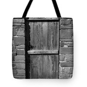 Wooden Door And Stone Wall 1 Tote Bag