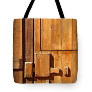 Wooden Door Detail Tote Bag by Carlos Caetano