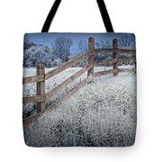 Wooden Fence Of A Friesian Horse Pasture On Windmill Island Tote Bag