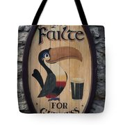 Wooden Guinness Sign Tote Bag