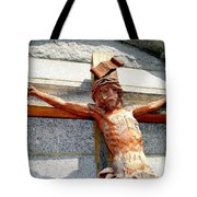 Wooden Jesus Tote Bag