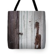 Wooden Latch Tote Bag