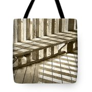 Wooden Lines - Semi Abstract Tote Bag