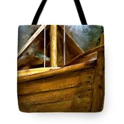 Wooden Mackinaw Boat Tote Bag