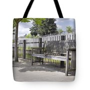 Wooden Park Benches Tote Bag