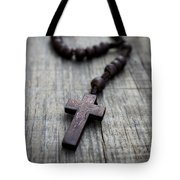 Wooden Rosary Tote Bag