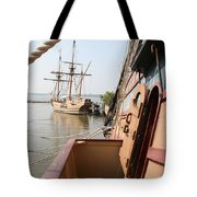 Wooden Sailingships Tote Bag