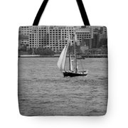 Wooden Ship On The Water Tote Bag