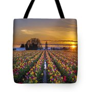 Wooden Shoe Tulip Festival Sunset Tote Bag