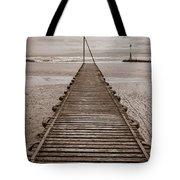 Wooden Slipway Rhos On Sea Tote Bag