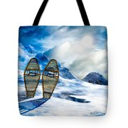 Wooden Snowshoes  Tote Bag by Bob Orsillo