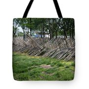 Wooden Spiked Fence Tote Bag