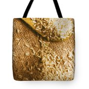 Wooden Tablespoon Serving Of Uncooked Brown Rice Tote Bag