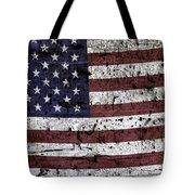 Wooden Textured U. S. A. Flag Tote Bag