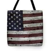 Wooden Textured Usa Flag3 Tote Bag