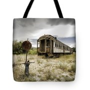 Wooden Train - Final Resting Place  Tote Bag