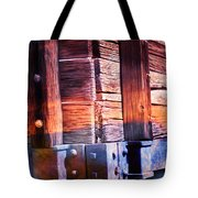 Wooden Wagon Side In Colors Tote Bag