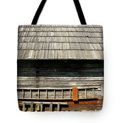 Wooden Window And Roof  Tote Bag