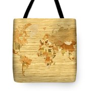 Wooden World Map 2 Tote Bag