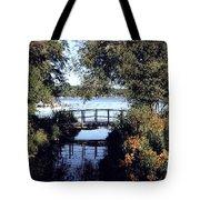 Woodfoot Bridge Of Williams Bay Wi Over Geneva Lake  Tote Bag