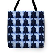 Woodgrain Guitar Blue Tote Bag