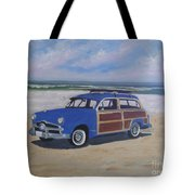 Woodie On Beach Tote Bag