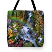 Woodland Forest Fairyland Tote Bag by Alixandra Mullins