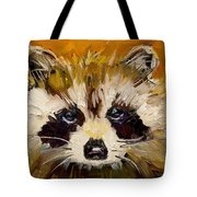 Woodland Racoon Tote Bag