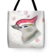 Woodpecker In Cherry Blossoms Tote Bag