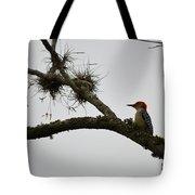 Woodpecker On Lookout Tote Bag