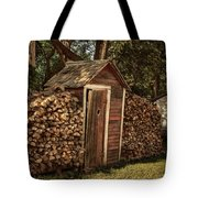 Woodpile And Shed Tote Bag