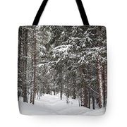 Woods In Winter Tote Bag