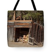 Woodshed On The Holzwarth Historic Site Tote Bag