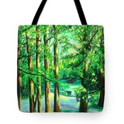 Woodside View Green Tote Bag