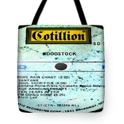Woodstock Side 4 Tote Bag
