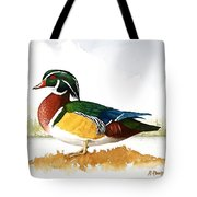 Woody On The Lake Tote Bag