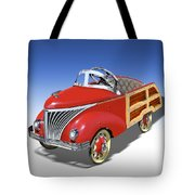 Woody Peddle Car Tote Bag