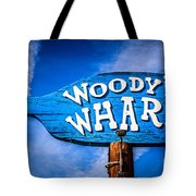 Woody's Wharf Sign Newport Beach Picture Tote Bag