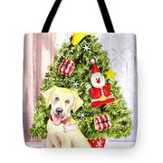 Woof Merry Christmas Tote Bag