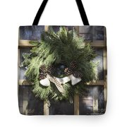 Wool And Feather Wreath Tote Bag