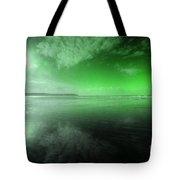 Woolacombe Beach In Green  Tote Bag