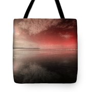 Woolacombe Beach In Red  Tote Bag