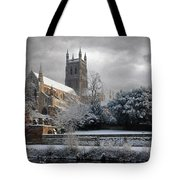 Worcester Cathedral Cloudy Tote Bag