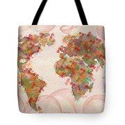 Word Map Digital Art Tote Bag