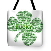 Words - Clover Tote Bag by Aged Pixel
