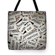 Words... Tote Bag