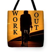 Work Out Vertical Work One Tote Bag