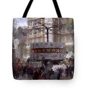 World Time Clock Berlin Tote Bag