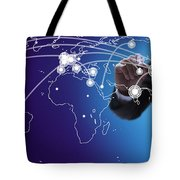 World Economies Map Tote Bag
