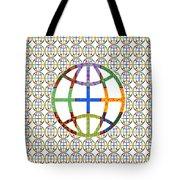 World Globe Earth Travel Graphic Digital Colorful Pattern Signature Art  Navinjoshi Artist Created I Tote Bag